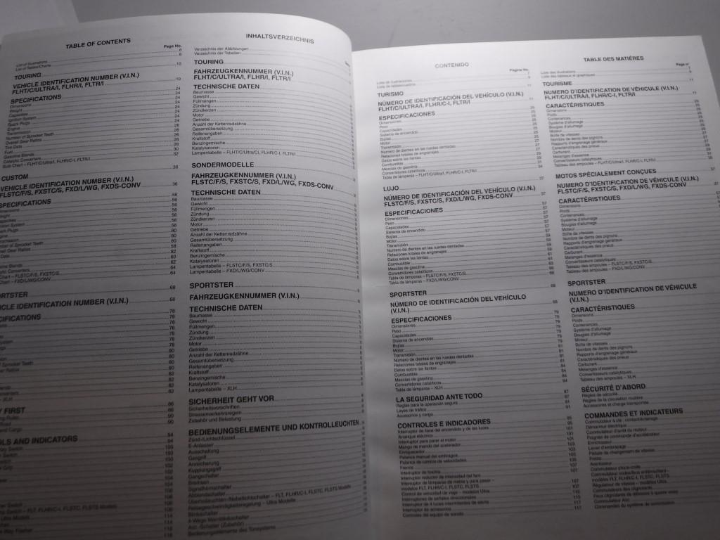 1998 Harley Davidson Motorcycle Owners Manual