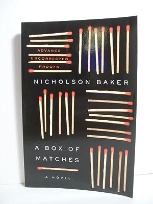 A Box of Matches: A Novel (Baker, Nicholson): Baker, Nicholson