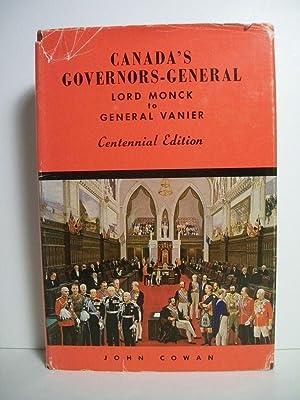 Cowan, John CANADA'S GOVERNORS-GENERAL Signed CDN HCDJ: Cowan, John