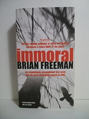 Freeman, Brian IMMORAL Signed UK SC ARC NF: Freeman, Brian