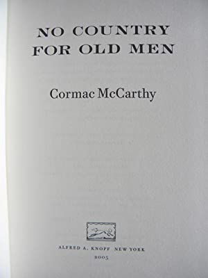 No Country for Old Men - US First Impression hardback: Cormac McCarthy