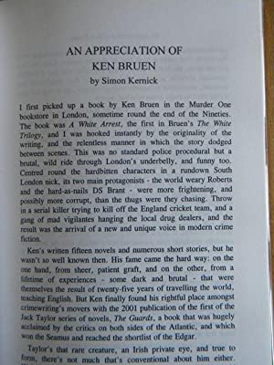 Priest: Ken Bruen - SIGNED LIMITED EDITION