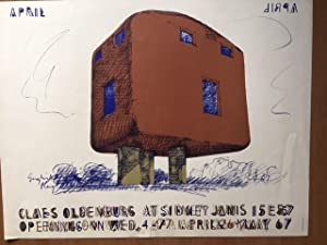 English Plug exhibition poster: Claes Oldenburg