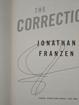 The Corrections - ADVANCE READER PROOF: Jonathan Franzen - SIGNED ARC