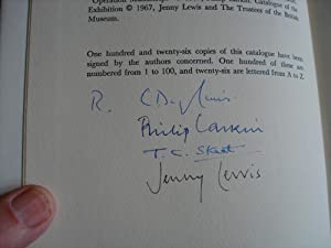 Poetry in the Making - SIGNED & LETTERED: Philip Larkin (Jenny Lewis) - VERY RARE LARKIN ...