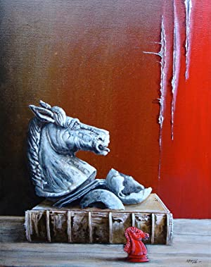 CHESS - Painting on canvas: Stefan Zweig - Peter Kettle Original Painting