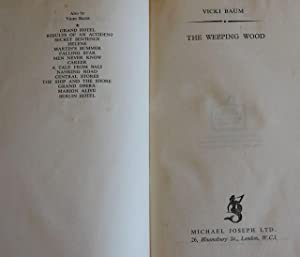 The Weeping Wood - FIRST PRINTING: Vicki Baum - VERY RARE FULL LEATHER BINDING