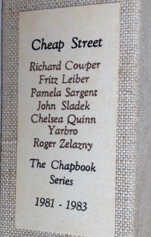 The Chapbook Series 1981 - 1983 - EXTREMELY RARE COLLECTION: SIGNED BY ALL - Richard Cowper, Fritz ...