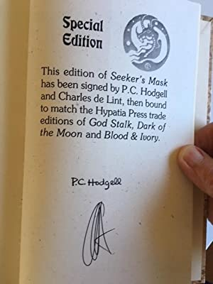 Seekers Mask: P. C. Hodgell Charles de Lint - RARE LIMITED EDITION SIGNED BY BOTH