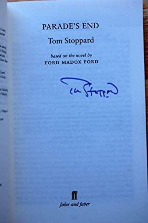 Parade's End - The BBC Drama Script: Tom Stoppard - SIGNED FIRST EDITION