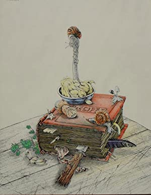 SWELTER'S COOKBOOK - RARE LIMITED EDITION LITHO, HAND COLOURED: Mervyn Peake Interest - ...