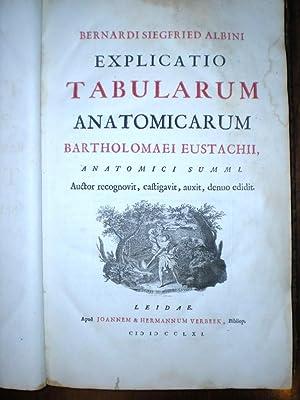 EXPLICATIO TABULARUM ANATOMICARUM BARTHOLOMAEI EUSTACHII ANATOMICI SUMMI: Albinus, Bernhard ...