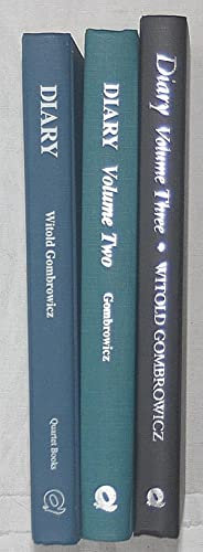 Diary: Volume 1, Volume 2 and Volume 3: Gombrowicz, Witold