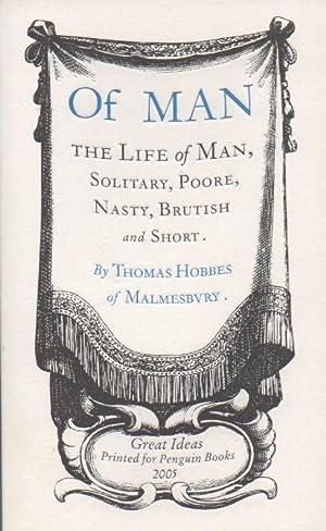 Of Man: Hobbes, Thomas