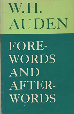 Forewords and Afterwords: Auden, W.H.