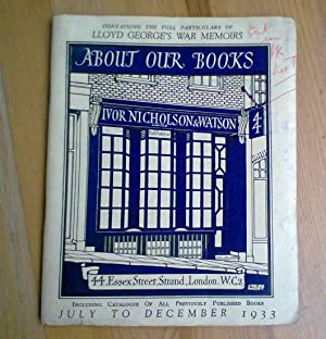 About Our Books [Ivor Nicholson & Watson, Publishers]