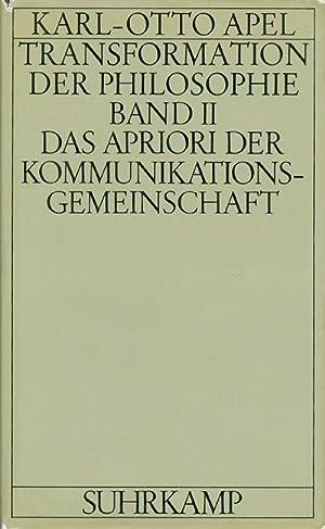 Transformation der Philosophie, Band II: Das Apriori: Apel, Karl-Otto