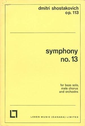 Symphony No. 13 (Op. 113): Shostakovich, Dmitri; Yevtushenko, Evgeny (words)