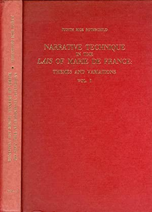 Narrative technique in the Lais of Marie de France;: Themes and variations (North Carolina studies ...