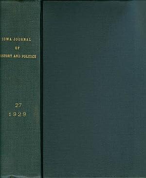 The Iowa Journal of History and Politics : Volume 27 : 1929: Shambaugh, Benjamin F. (editor)