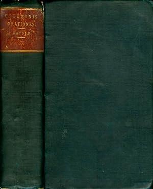 Orationes Vol. I: Cicero; M. Tullius (M. Tullii Ciceronis); Kayser, C. L. (editor)