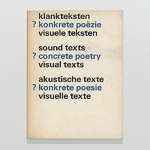 klankteksten ? konkrete poëzie visuele teksten /: Crommelin, Liesbeth, ed.,