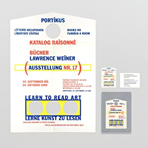 A suite of four items relating to 'Lawrence Weiner, Books 1968 - 1989: Catalog Raisonné'