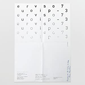 poster for europvispo - 73: an exhibition of visual poetry by four europeans