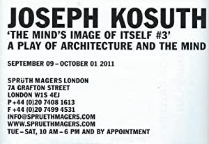 Joseph Kosuth : 'The Mind's Image of Itself #3' a play of architecture and the mind (poster)