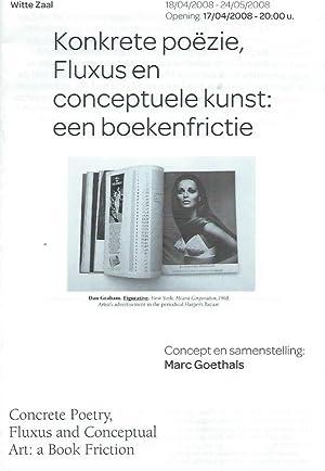 Konkrete Poëzie, Fluxus En Conceptuele kunst: Een: Goethals, Marc