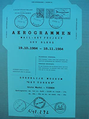 Guy Bleus : Aerogrammen - Mail-art Project (poster)