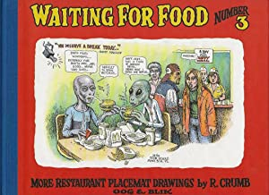 Waiting for Food - Number 3 - More restaurants placemat drawings by R. Crumb