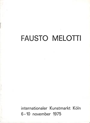 Fausto Melotti - Internationaler Kunstmarkt Köln 6-10: Melotti, Fausto -