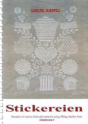 Stickereien: Samples of various Schwalm patterns using: Luzine Happel