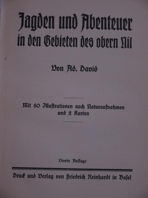 Jagden und Abenteuer in den Gebieten des: David, Ad.