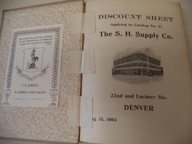 The S H  Supply Company Denver, Colorado,