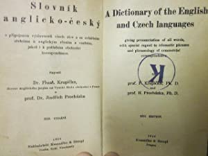 A Dictionary of the English and Czech Languages, giving pronunciation of all words, with special ...