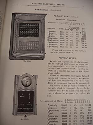 Western Electric Company - General Catalogue of Electrical Supplies 1904 - 1905