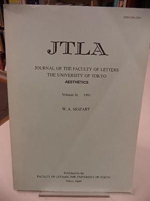 W. A. Mozart. JTLA. Journal of the: Albert Palm; Ghyslaine