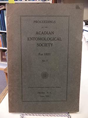 Proceedings of the Acadian Entomological Society For 1921