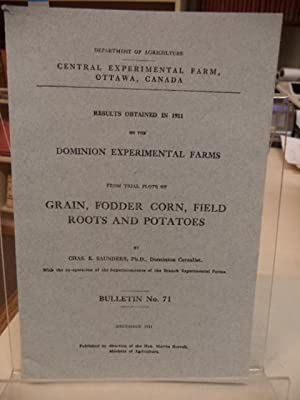 Results obtained in 1911 on the Dominion Experimental Farms from Trial Plots of Grain, Fodder cor...