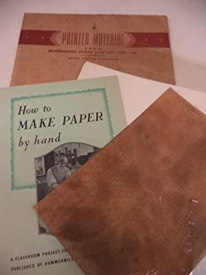 How To Make Paper By Hand : a classroom project for the study of paper making.