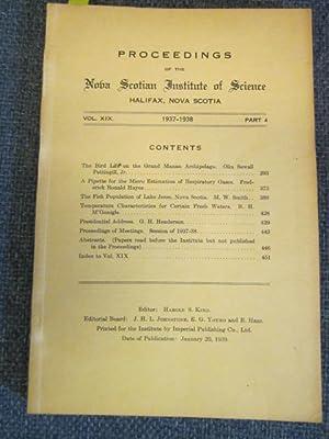 Proceedings of the Nova Scotian Institute of: King, Harold S.