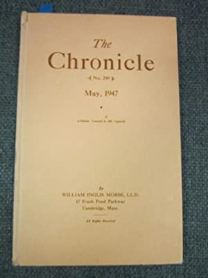 The Chronicle, May, 1947, Number 249: Morse, William Inglis