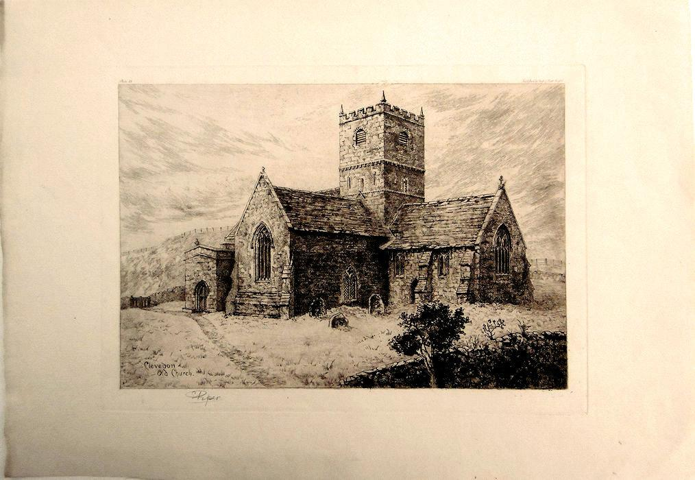 Clevedon_Old_Church_Printed_on_fine_laid_paper_bearing_the_van_Gelder_Zonen_watermark_and_with_full_margins_as_published_in_Bristol_by_Frost_&_Ree