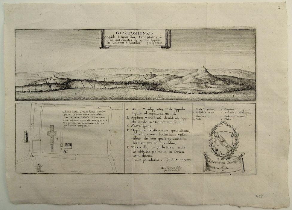 Glastoniensis_The_Prospect_of_the_Town_of_Glastonbury_from_3_miles_South_Etched_by_Wenzel_Hollar_16071677after_Richard_Newcourts_drawing_and_pr