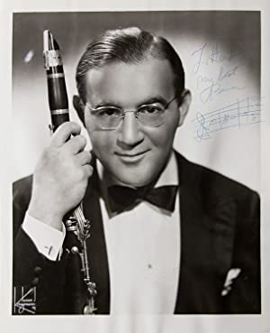 Signed Photogtraph of Benny holding his clarinet