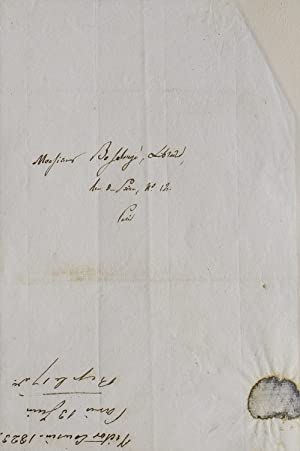 Autograph letter signed to his publisher