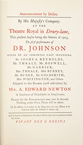 Doctor Johnson, A Play