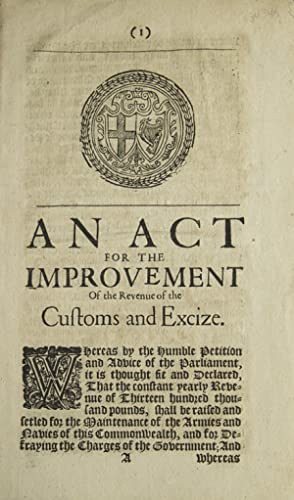 An Act for the Improvement of the Revenue of the Customs and Excize